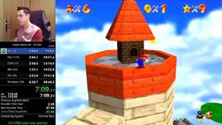 New Sm64 70 star WR in 47m 34s.