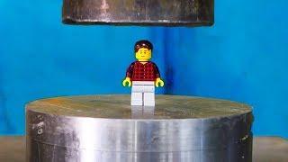 Crushing LEGOS With A Hydraulic Press