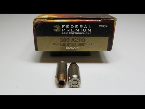 Federal Premium 380 AUTO 90 Grain Hydra-Shok Gel Test