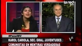 Juan González, Pdte. Corporación 11 de Sept. enfrenta a Karol Cariola, Sec. Gral. de las JJ.CC.