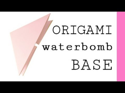 origami waterbomb base youtube