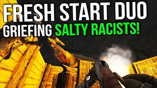 Getting Started And Griefing Salty Kids | Duo Official Small Tribes | ARK: Survival Evolved Ep 1
