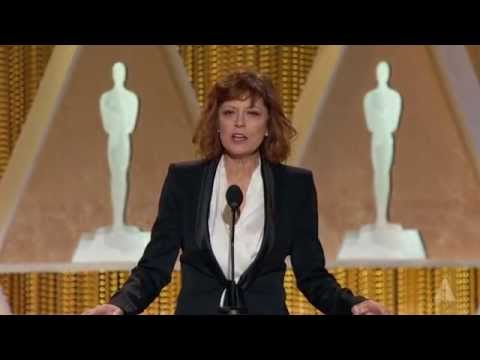Susan Sarandon honors Harry Belafonte at the 2014 Governors Awards