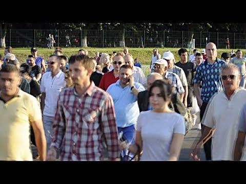 Уболівальники ФК Агробізнес покидають стадіон після матчу 22 липня 2017