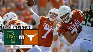 Baylor vs. No. 9 Texas Football Highlights (2018) | Stadium
