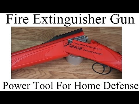 Fire Extinguisher Gun | Power Tool For Home Defense Image 1