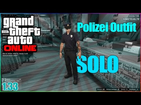 GTA 5 Online - Polizei Outfit SOLO bekommen! | 1.33 | by: Slag