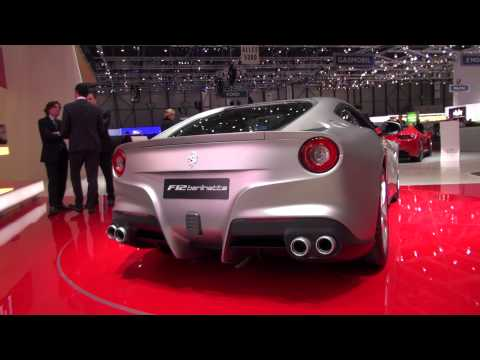 Ferrari F12 Berlinetta Matte Silver inside and outside with seating tryout
