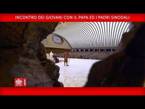 Papa Francesco - Aula Paolo VI – Incontro con i giovani 2018-10-06