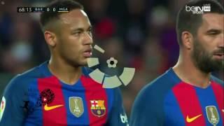 ملخص مباراة برشلونة وملقا 0 0 كامل شاشة كاملة الدوري الاسباني 2016 / 2017