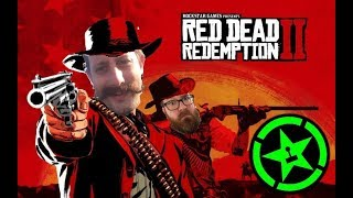 Jack and Geoff from Achievement Hunter in Red dead redemption 2
