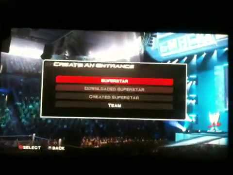 How to make a team in smack down vs raw 2011