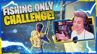 Fishing ONLY Challenge in Fortnite Chapter 2 - W/ VALKYRAE, BASICALLYIDOWORK & JORDAN FISHER