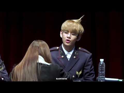 170226 방탄소년단 홍대 팬사인회 BTS V - 우는 팬분 달래주는 너무너무 귀여운 김다정씨