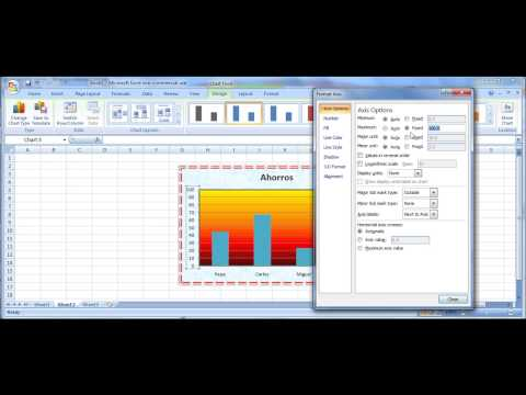 Tutorial Excel Modificar Gráficas(datos,color,escalas,títulos)