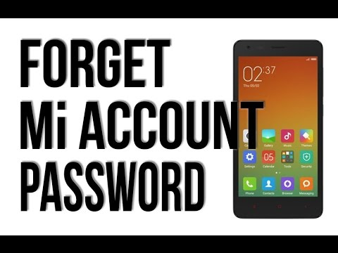 How to Unlock Forgotten Mi  Account and Password, Redmi 1s, 2s, prime, mi4, mi4i mi4c. MiPad