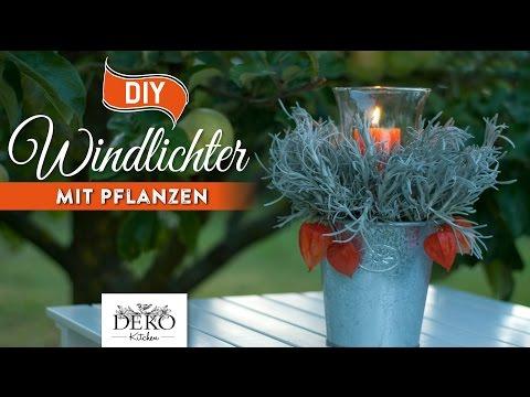 DIY: tolle Herbst-Windlichter mit Pflanzen schnell & einfach [How to] Deko Kitchen
