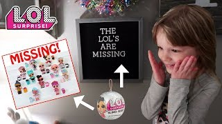 OUR FULL SET OF L.O.L. SURPRISE BLING SERIES DOLLS ARE MISSING!!!