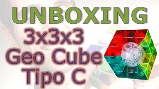 Apresentação do quebra-cabeça Geo Cube 3x3x3 transparente Tipo C (unboxing)