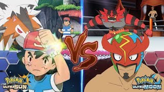 Pokemon Battle USUM: Ash Vs Masked Royal (Pro Wrestler)