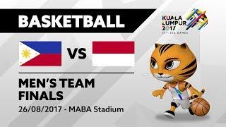 KL2017 29th SEA Games   Men's Basketball - FINALS - PHI 🇵🇭 vs INA 🇮🇩   26/08/2017