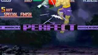 Street Fighter Alpha 3 - Sagat vs Shin M.Bison