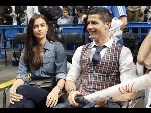 Cristiano Ronaldo And Girlfriend Irina (2014) -  Shayk Make a Perfect Courtside Couple