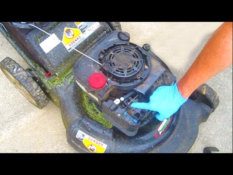 Lawn Mower REPAIR Auto Choke Briggs and Stratton Sears Craftsman fix engine won't start spring
