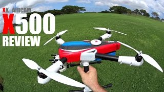 XK Aircam X500 GPS QuadCopter Review - [Flight Test]
