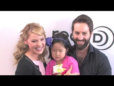 KATHERINE HEIGL brings her family to 'The Nut Job' premiere
