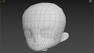 chibi / anime character head modeling