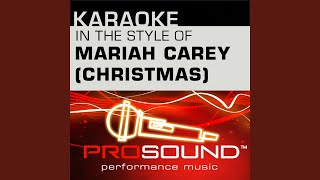 Jesus Born On This Day Karaoke Instrumental Track In The Style Of Mariah Carey