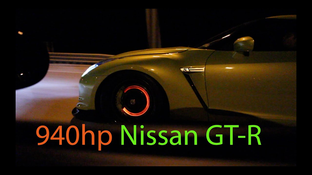 Glowing Red Brakes On A Nissan Gt R Racing A Procharged Gs