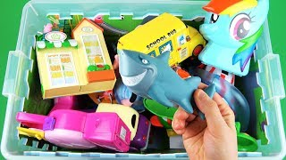 Learning with Disney Cars, Nemo, Ben and Holly, Peppa Pig Toys in box - Learn characters, vehicles
