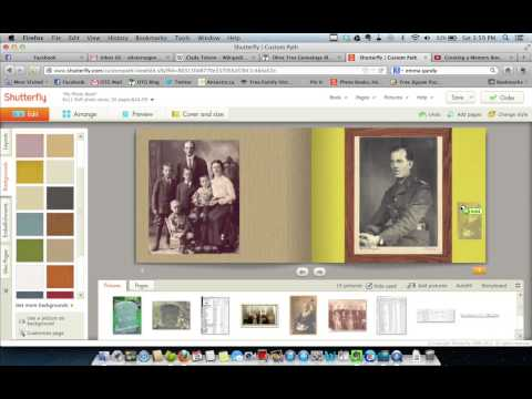 Creating a Memory Book in Shutterfly (Tutorial 2)