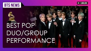 BTS wins FIRST-EVER Grammy nomination in best duo/group performance