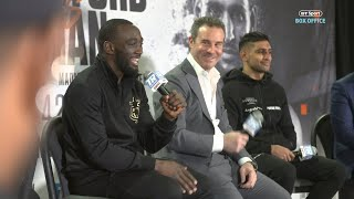 """You didn't quit?! Tell the truth."" Full Crawford v Khan post-fight press conference"