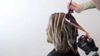 Long Mens Haircut and Color featuring Brian Haire - FreeSalonEducation.com