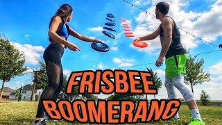 HOW TO THROW A FRISBEE BOOMERANG | Brodie & Kelsey