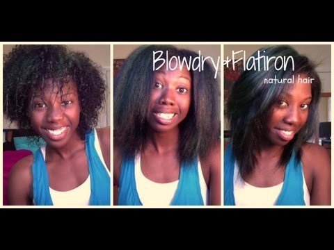 How I Blow-dry & Straighten My Natural Hair
