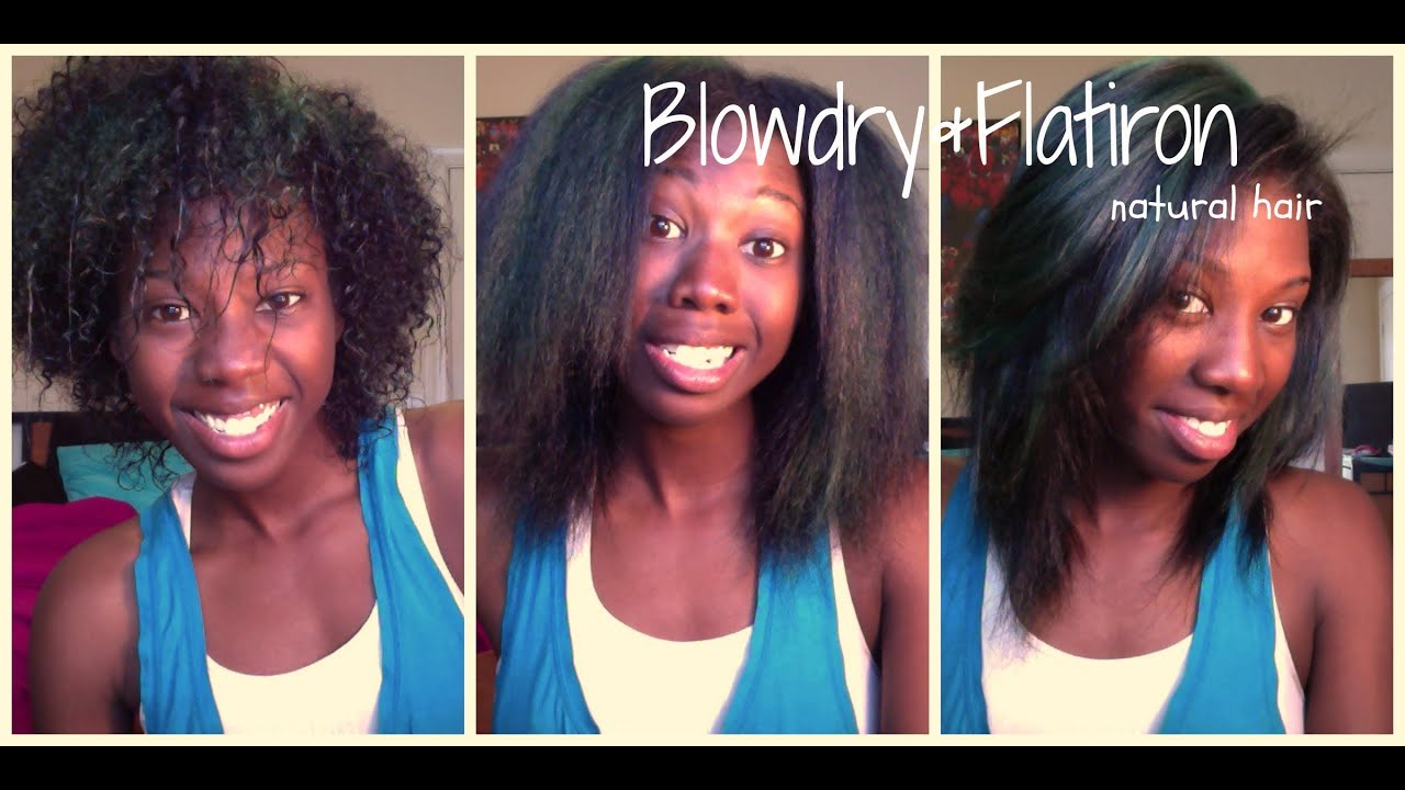 How I Blow Dry Amp Straighten My Natural Hair Youtube