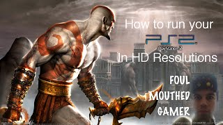 Foul Mouthed Gamer - How To Run Your PS2 In HD Resolution (1080i/720p) Using GS Mode Selector
