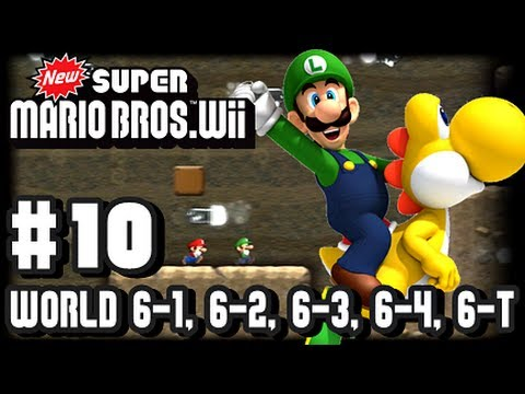 New Super Mario Bros Wii - Part 10 - 6-1, 6-2, 6-3, 6-4, 6-Tower