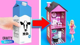 10 RECYCLED DOLLHOUSE FURNITURE CRAFTS