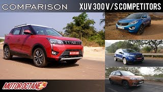 Mahindra XUV300 Vs Ford EcoSport Vs Tata Nexon | Comparison | Hindi | MotorOctane