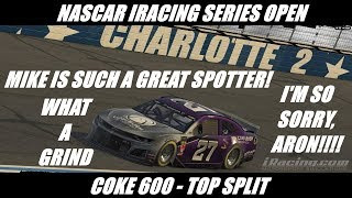 Buckle Up, This is Gonna Be a Long One - NiS Open Coke 600 Top Split