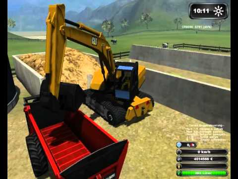 Mist baggern und verladen im Landwirtschafts Simulator 2011 HD Teil 2