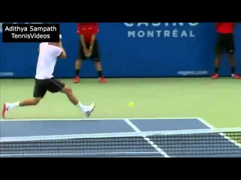 Novak Djokovic Between the Legs shot vs Bernard Tomic (Novak Djokovic izmedju nogu vratio loptu)