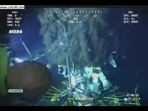 Gulf Oil Spill BP 6th July Ocean intervention ROV2 1600hrs .avi
