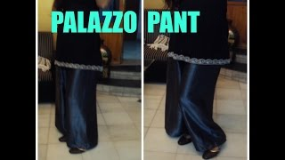 HOW TO MAKE PALAZZO PANT
